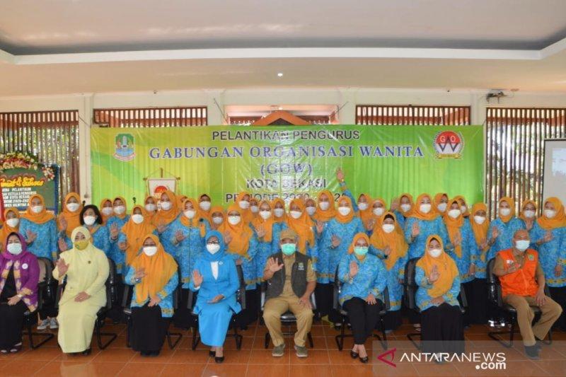 Wali kota lantik Pengurus Gabungan Organisasi Wanita Kota Bekasi