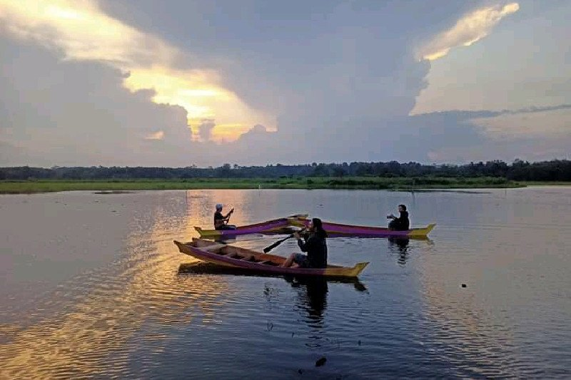 Sensasi objek wisata Danau Wanaba Lampung Timur