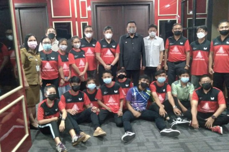 Gubernur berharap pembinaan tenis meja Sulut hasilkan atlet berprestasi