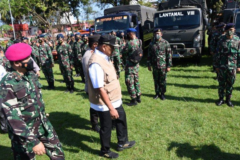 Lantamal VIII menyiagakan personel dan peralatan antisipasi bencana