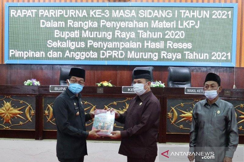 Bupati Murung Raya paparkan LKPJ 2020 ke DPRD