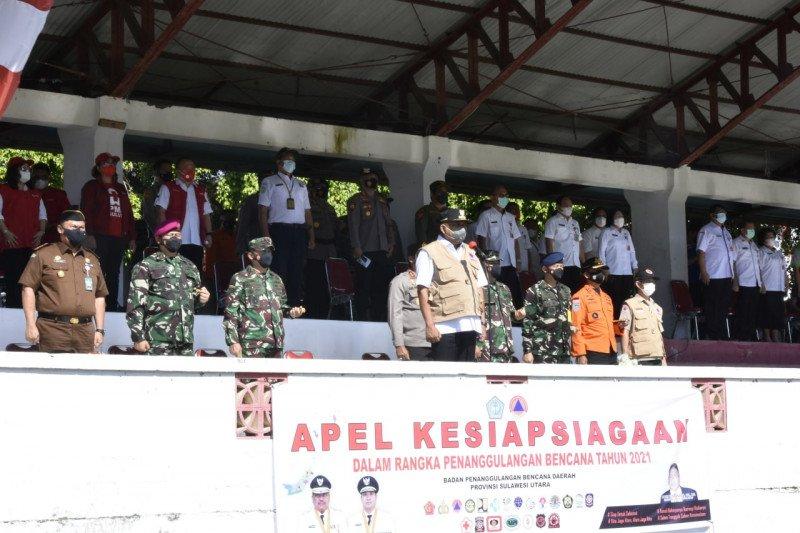 Pangdam XIII/Merdeka hadiri Apel Kesiapsiagaan Penanggulangan Bencana TA 2021