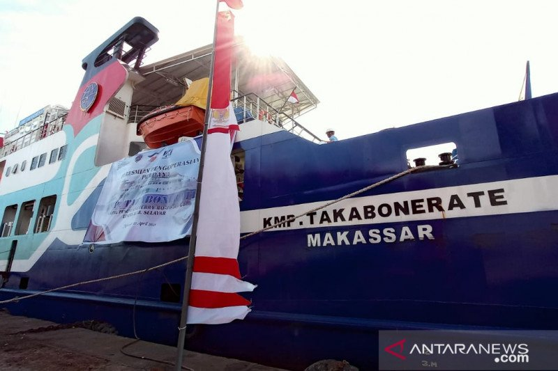 Plt Gubernur Sulsel dan Sekretaris Ditjen Hubdat resmikan KMP Takabonerate