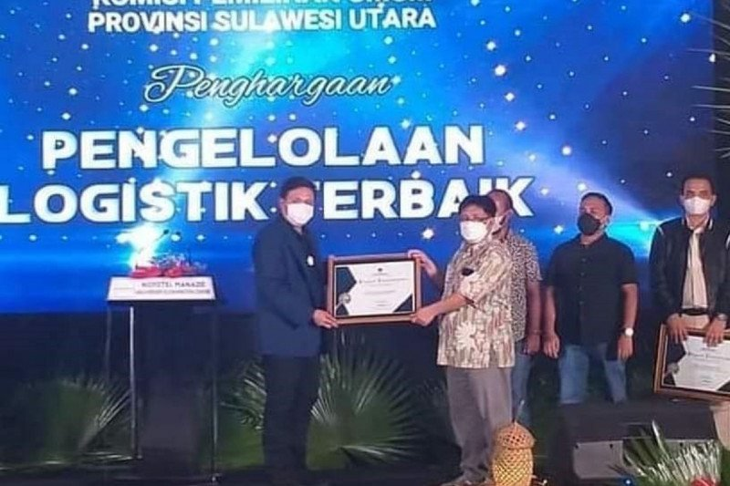 KPU Manado pengelola logistik terbaik se-Sulut