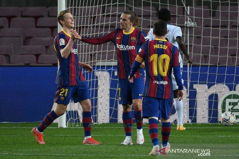 Barcelona kalahkan Getafe 5-2, Messi cetak dua gol