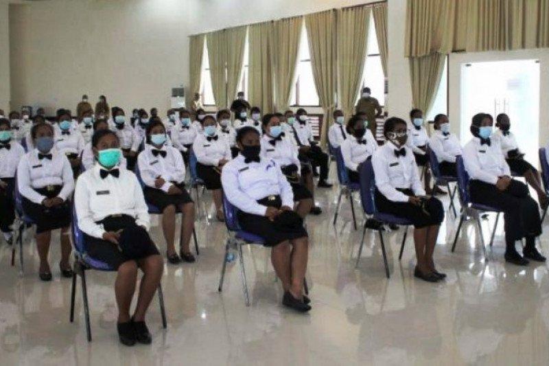 Babinsa Posramil Biak Timur hadiri pelatihan dasar CPNSD