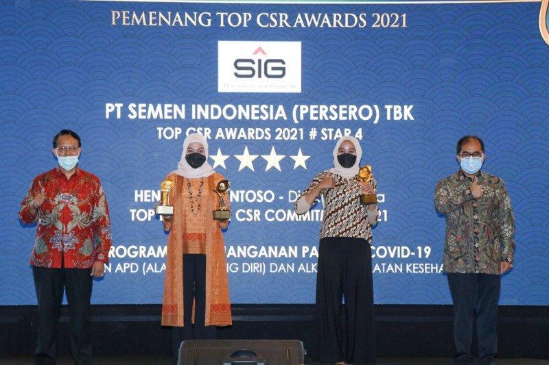 SIG raih tiga penghargaan dalam ajang Top CSR 2021