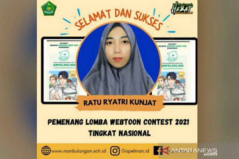 Kepsek MAN bangga, Ratu juara nasional webtoon contest 2021