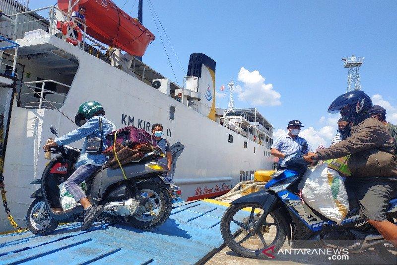 Belum ada lonjakan penumpang melalui Pelabuhan Sampit