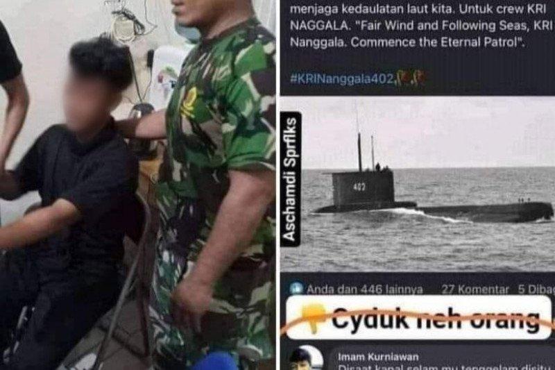 Polisi tangkap seorang pria di Medan karena hina keluarga awak KRI Nanggala-402