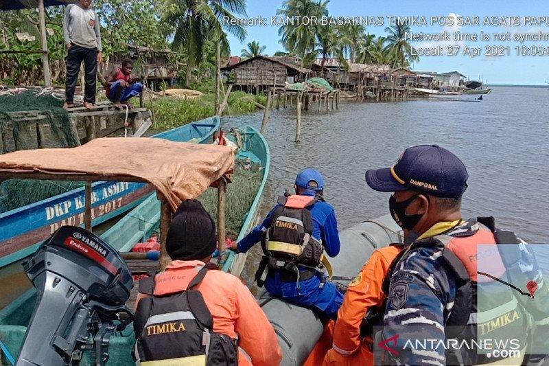 Seorang penumpang perahu motor terbalik di Atsj Asmat belum ditemukan
