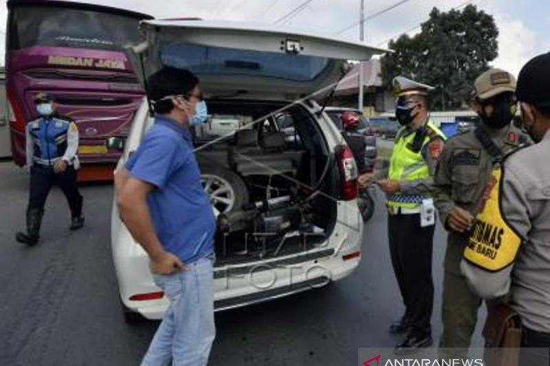 Penyekatan Kendaraan Masuk Wilayah Lampung
