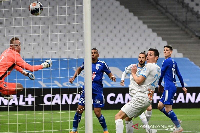 Marseille terhindar dari kekalahan lawan Strasbourg