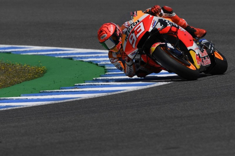Pebalap Marquez merasa air fence menyelamatkannya ketika kecelakaan di Jerez