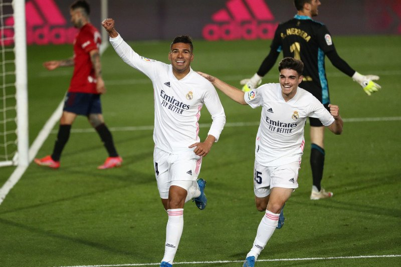 Real Madrid hajar Ossasuna 2-0