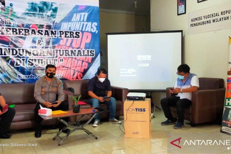 Sambut WPFD AJI Manado  gelar diskusi