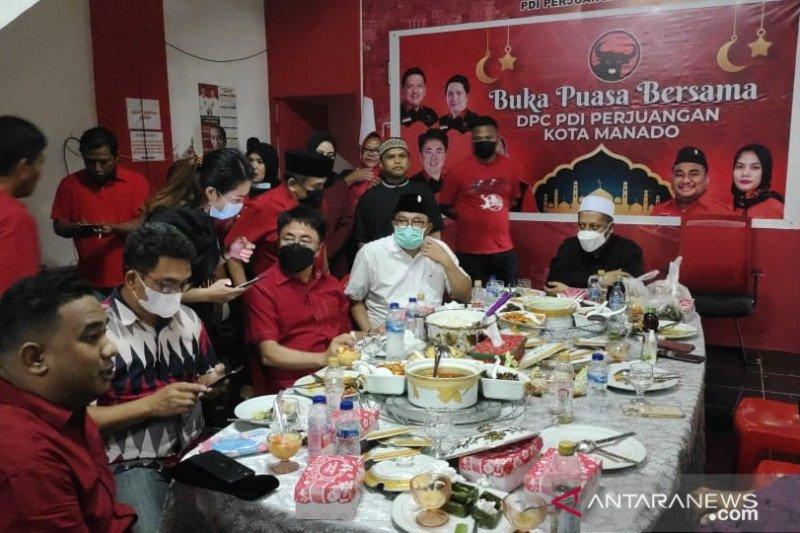 DPC PDIP Manado gelar buka puasa bersama
