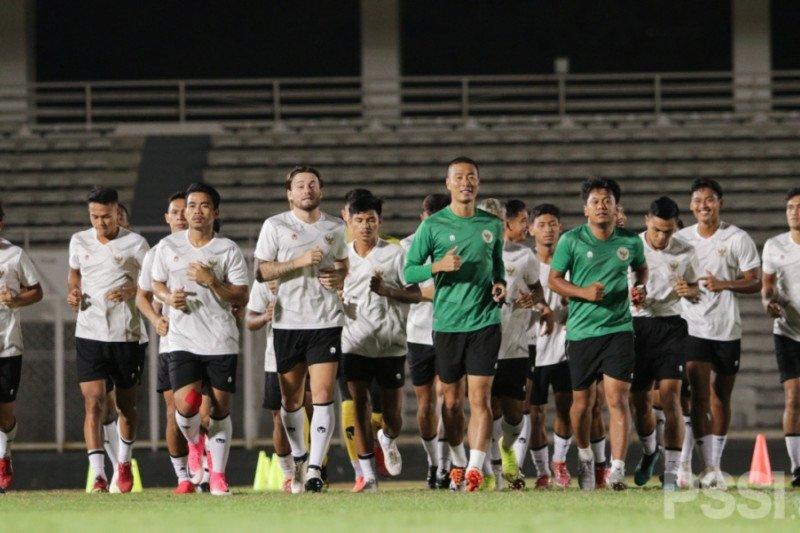 Timnas Indonesia antusias jalani latihan perdana jelang kualifikasi Piala Dunia