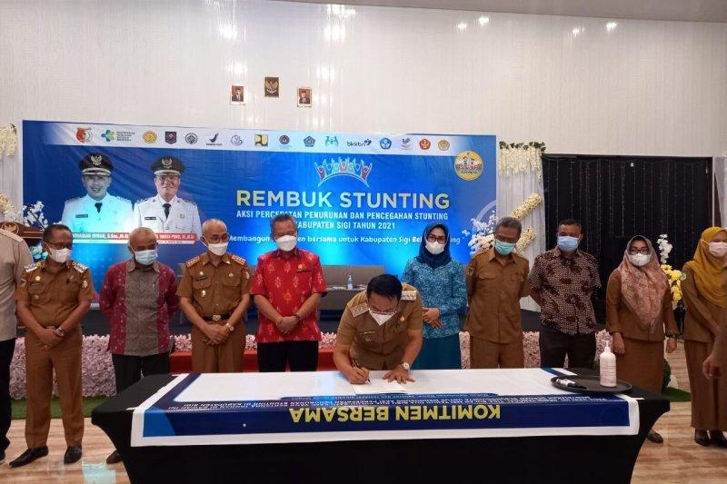 Pemkab Sigi  tetapkan 25 desa sebagai lokasi fokus pencegahan stunting