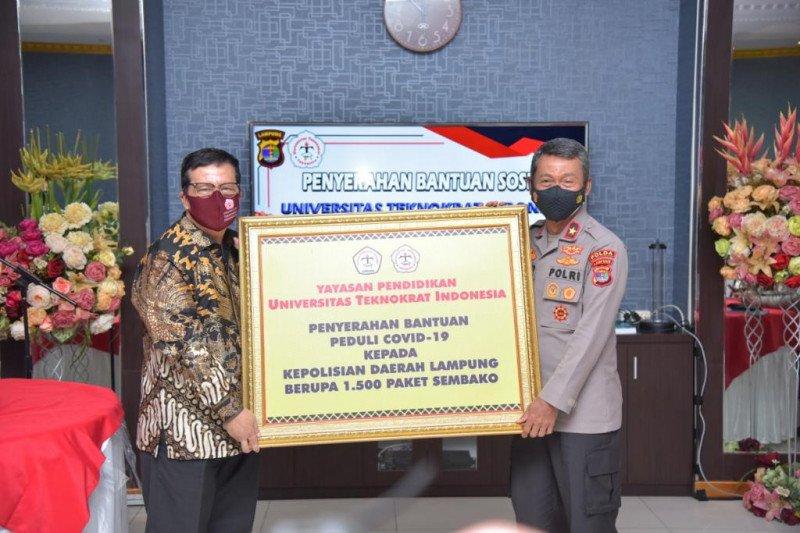 Polda Lampung terima bantuan 1.500 sembako dari Universitas Teknokrat