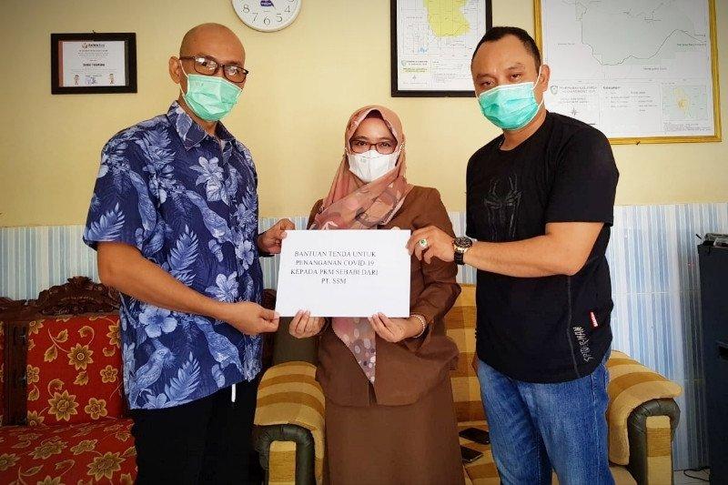 PT Sukajadi Sawit Mekar sumbang tenda untuk pos vaksinasi COVID-19