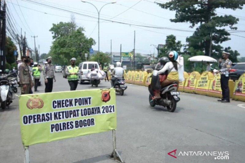 Penyekatan delapan titik antisipasi mudik di Bogor mulai 6 Mei