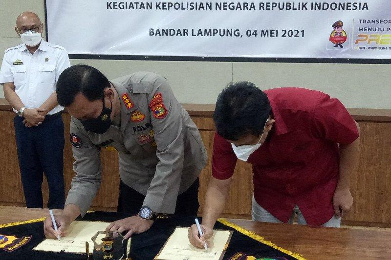Polda Lampung dan LKBN ANTARA-RRI jalin kerja sama pemberitaan