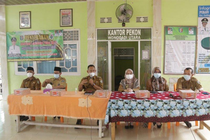 Wakil Bupati Pringsewu bina aparat Pekon Wonodadi Utara