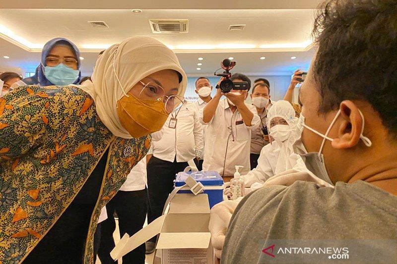 13.678.323 penduduk Indonesia telah divaksinasi dosis satu