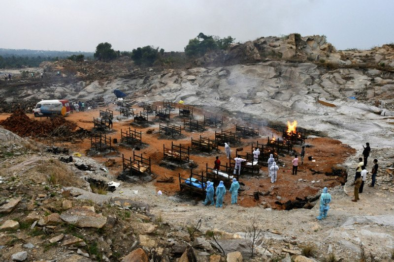 46 persen kasus baru COVID-19 dunia disumbang India