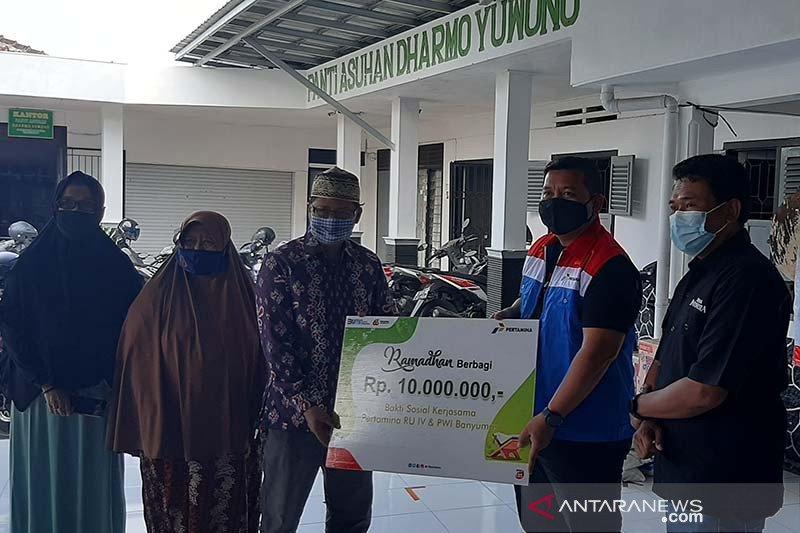 Pertamina Cilacap dan PWI Banyumas salurkan bantuan sembako untuk panti asuhan