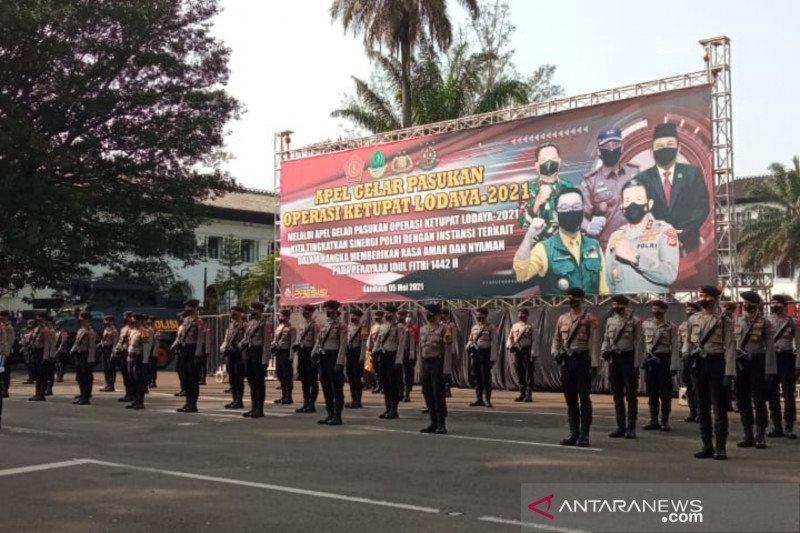 1.500 personel mulai disebar ke pos penyekatan mudik di Kota Bandung