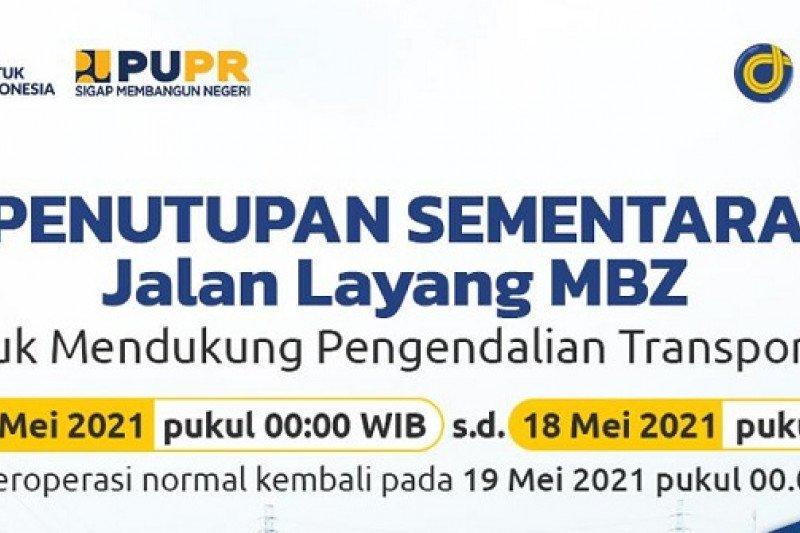 Tol Layang MBZ ditutup