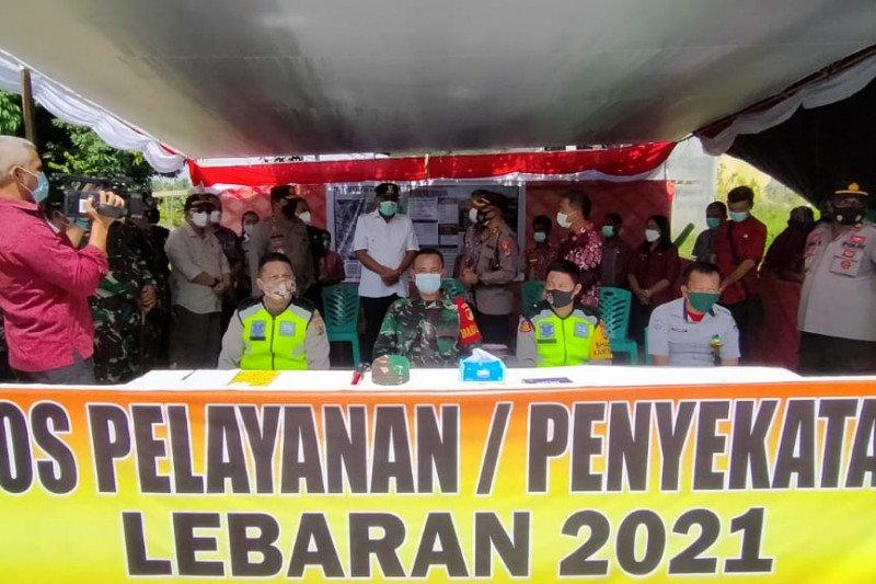 Forkopimda lakukan cek pos penyekatan mudik di perbatasan Sulut-Gorontalo