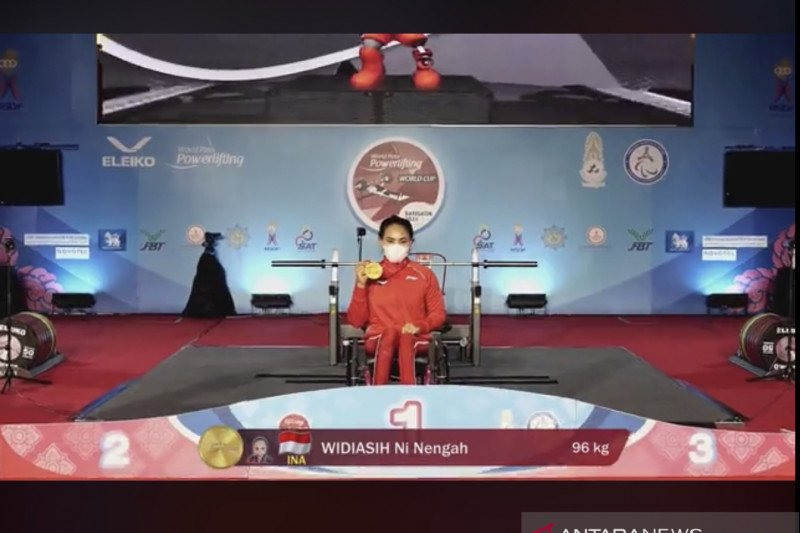 Ni Tengah Widiasih raih emas World Para Powerlifting World Cup 2021