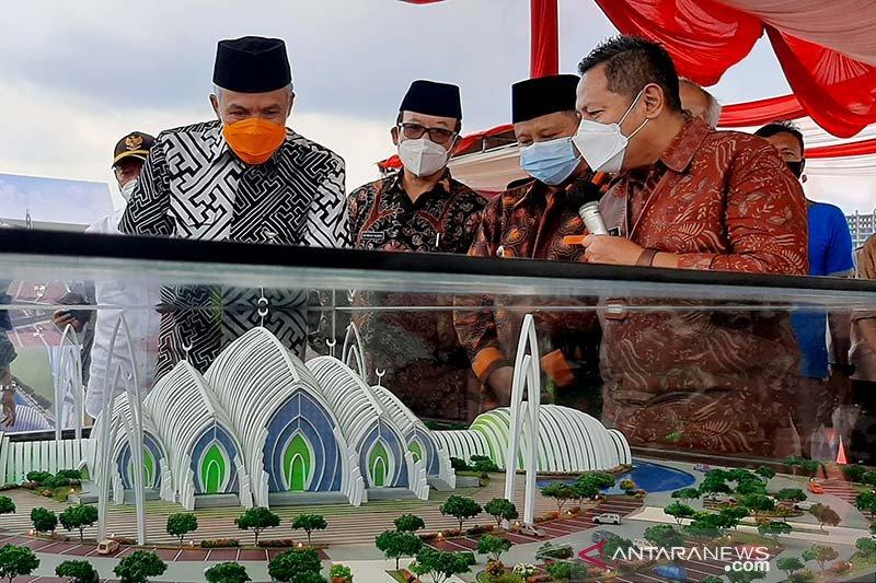 Gubernur Jateng apresiasi pembangunan Masjid Agung Purwokerto