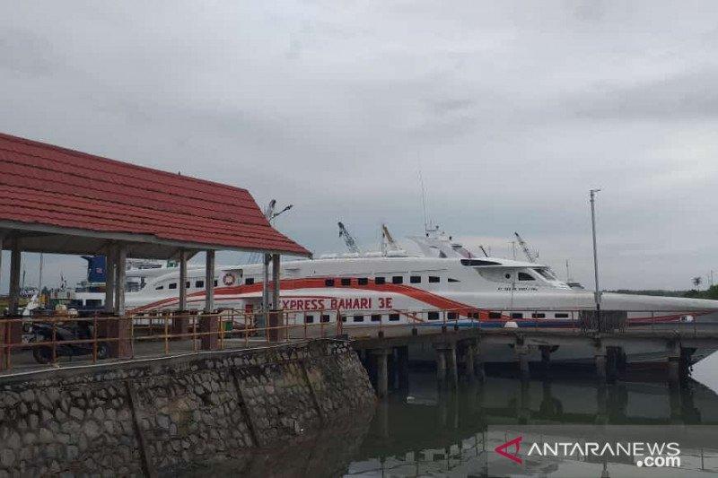 Larangan mudik, Kapal cepat Tanjung Pandan - Pangkal Balam berhenti beroperasi
