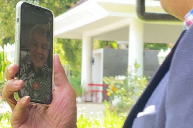Ridwan Kamil dan Ganjar Pranowo 'video call' bahas Masjid Raya Banyumas