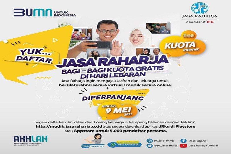 Yuk buruan.... Pendaftaran mudik online gratis Jasa Raharja diperpanjang