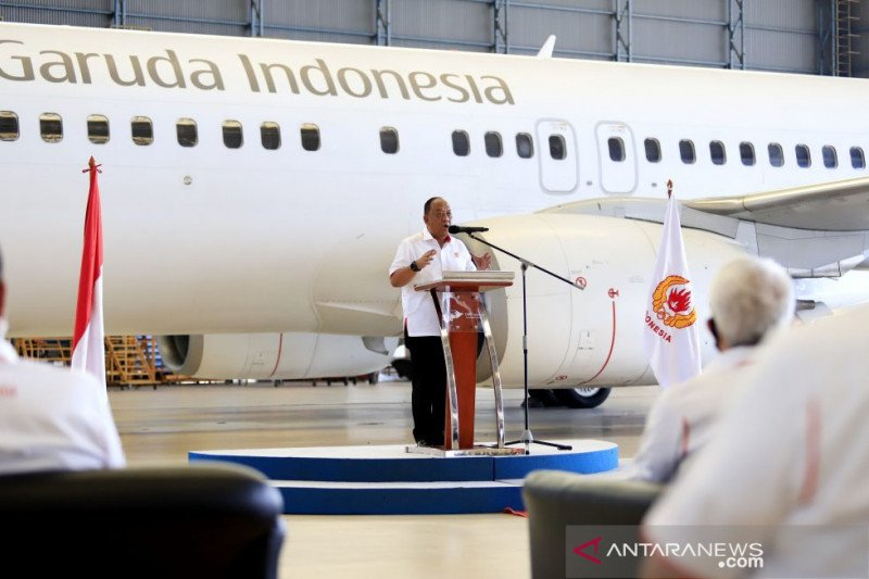 Garuda Indonesia resmi menjadi maskapai penerbangan kontingen Indonesia