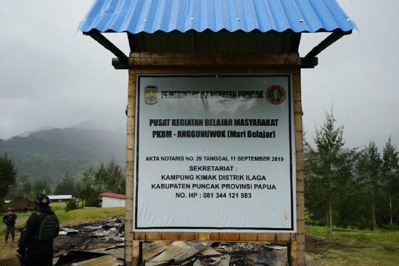 Satgas Nemangkawi: Rumah yang dibakar KKB adalah pusat belajar masyarakat