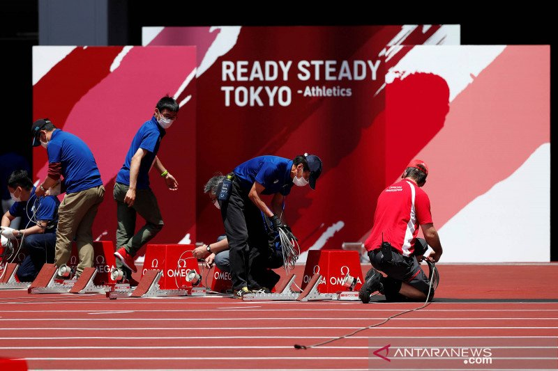 Olimpiade Tokyo gelar uji coba ratusan atlet atletik tanpa penonton