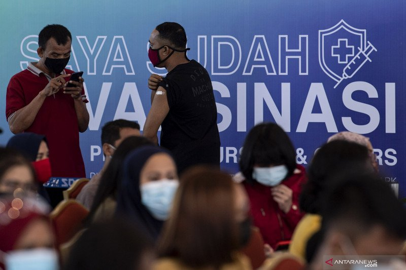 8.919.557 penduduk Indonesia telah divaksinasi lengkap