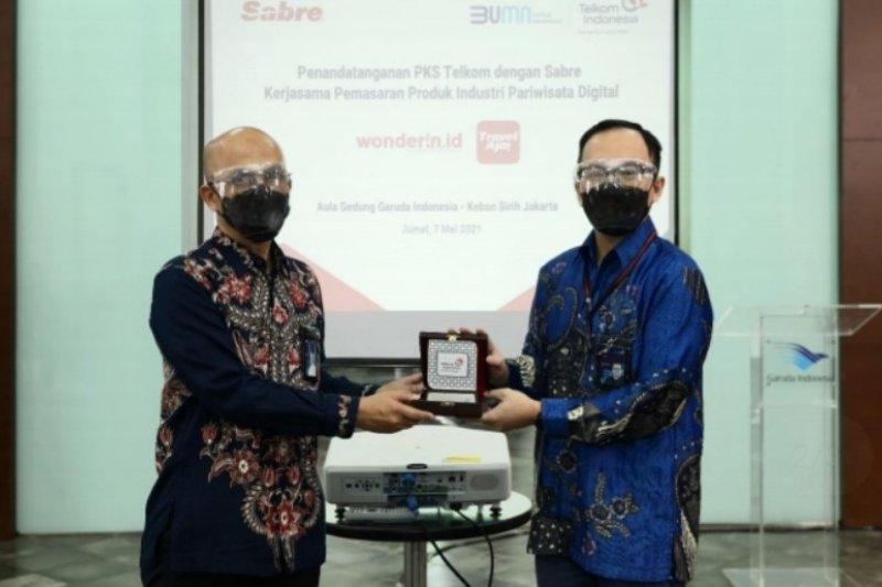 Telkom gandeng anak usaha Garuda Indonesia pasarkan platform digital pariwisata