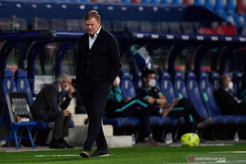 Koeman mengakui bakal kehilangan pekerjaan usai timnya ditahan Levante
