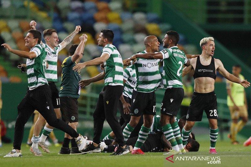 Akhirnya Sporting pungkasi paceklik juara liga Portugal 19 tahun lamanya