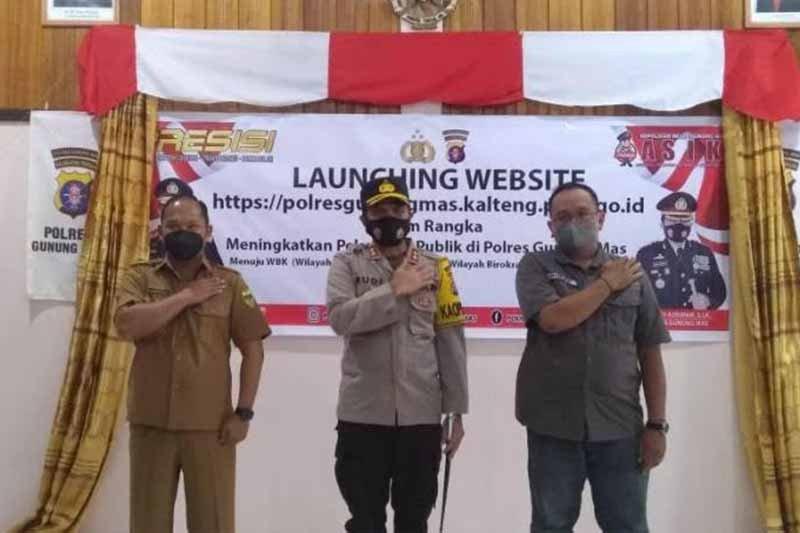 Tingkatkan pelayanan ke masyarakat, Polres Gumas luncurkan website