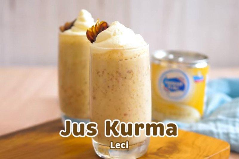 Bahan dan cara membuat jus kurma leci