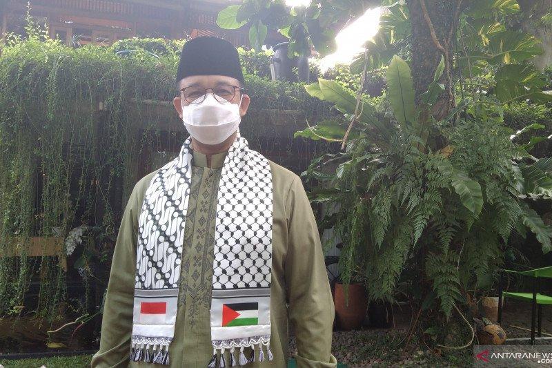 Anies Shalat Id gunakan sorban Palestina