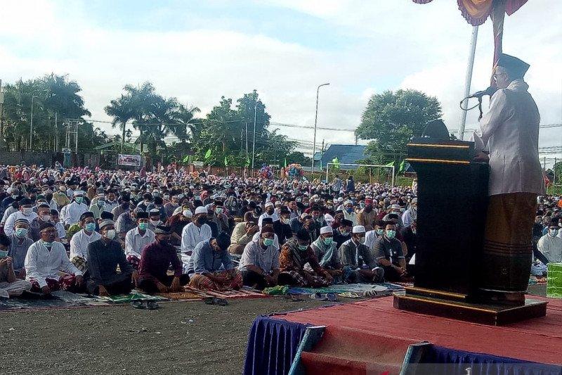 Ribuan warga ikuti Shalat Id di Lapangan Timika Indah Mimika Papua